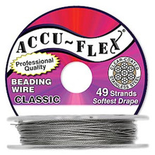 "30 Foot Spool 49 Strand Accu-Flex Clear 0.019"" Diameter Beading Wire"
