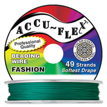 "30 Foot Spool 49 Strand Accu-Flex Forest Green 0.024"" Diameter Beading Wire"