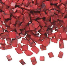 50 grams Faux Red Coral Mini Chips ~ UNDRILLED ~ For Inlay & Embellishment