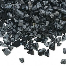 50 Grams Snowflake Obsidian Natural Mini to Small UNDRILLED Chips ~  Embellishment