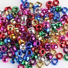 380 Metallic Multi Color Acrylic 6x9mm Pony Bead Mix