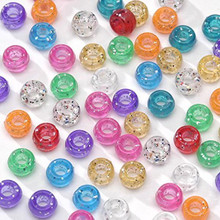 1000 Acrylic MultiColor with Glitter Pony Beads ~ 7x5mm Mix *