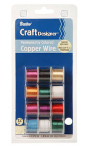 12 Spool Package 20 Gauge Permanently Colored Copper Wrapping Wire MIX ~12x3yards *