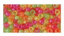415 Acrylic 6x9mm Pony Beads Warm Sparkle Yellow,Green, Orange, Pink Mix