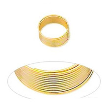 "1 Ounce Gold Plated Stainless Steel 1/2"" Toe Ring Memory Wire"