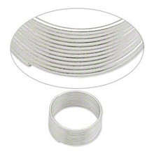 "1 Ounce Silver Plated Carbon Steel  1/2"" Toe Ring Memory Wire"