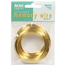 "1 Ounce Gold Plated 2"" Round Memory Wire Bracelets ~ 70 Loops"