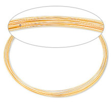 "12 Loops Gold Plated Stainless Steel 3 5/8"" Memory Wire Necklace"