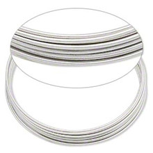 1 Ounce Silver Stainless Steel Memory Wire 1 3/4 Inch Round Small Bracelets