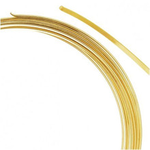 "0.35 Ounce Gold Plated Steel FLAT Memory Wire 2 1/4"" Round Bracelets"