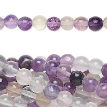 1 Strand Natural Rainbow Fluorite 6mm Round Gemstone Beads