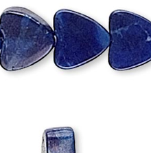 1 Strand Lapis Blue Howlite Gemstone 4x4mm Flat Heart Beads *