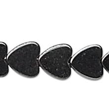 1 Strand Hemalyke (Manmade) 4x4mm Flat Heart Beads