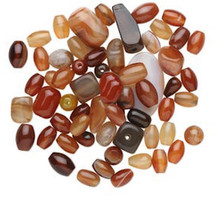1/4 LB Multi-Agate Gemstone Bead Mix ~ Assorted Shapes, Sizes & Colors