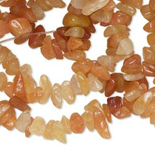 "34"" Strand Natural Red Aventurine Gemstone Medium Chip Beads ~ 2-9mm"