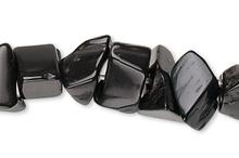 "36"" Strand Black Onyx Dyed Medium Chip Gemstone Beads"