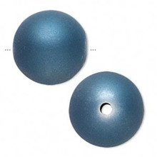 10 Matte Blue Rubberized Coating 26mm Round Acrylic Beads