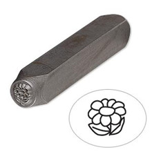 1 Tempered Steel  6x5mm Flower Stamp Punch