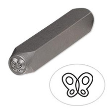 1 Tempered Steel  6x4.5mm BUTTERFLY Stamp Punch