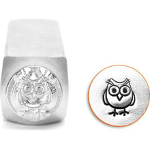 1 ImpressArt Carbon Tool Steel  6mm  HOOTIE OWL Metal Stamp Punch
