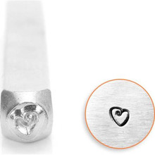 1 ImpressArt Carbon Tool Steel  3mm FAT HEART Metal Stamp Punch