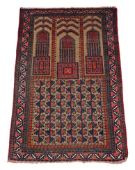 Persian hand woven wool rug cream / terracotta