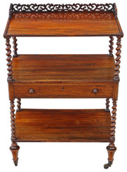 William IV rosewood dumb waiter buffet serving table