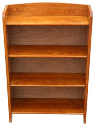 Small adjustable beech bookcase display shelves