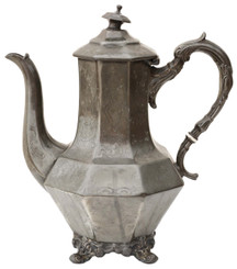 Early 20th Century pewter tea pot
