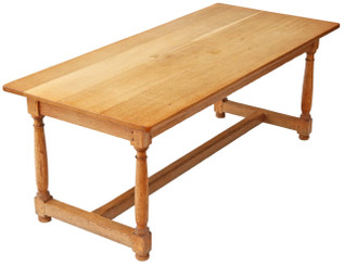 Light oak refectory dining table kitchen