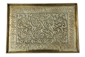 C1920 Keswick School of Industrial Art brass serving tray