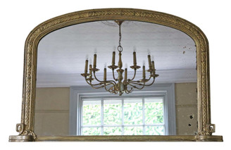 Victorian gilt wall mirror or overmantle C1880