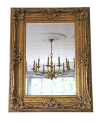 Victorian style reproduction gilt wall mirror