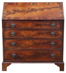 Georgian flame mahogany bureau desk