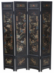 Victorian Chinoiserie dressing screen room divider