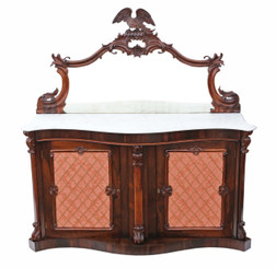 Victorian rosewood credenza sideboard