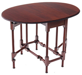 Edwardian inlaid mahogany Sutherland tea table