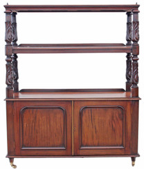 Victorian carved buffet serving table