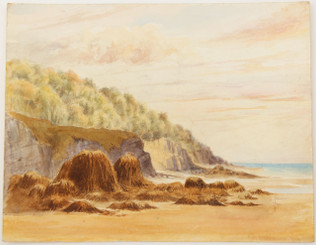British Victorian watercolour landscape seascape painting