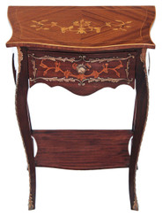French mahogany marquetry ormolu side table occasional
