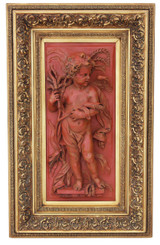 Large statue work of art angel plaque