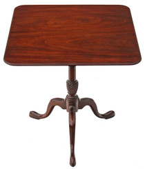 Georgian style mahogany tilt top supper table