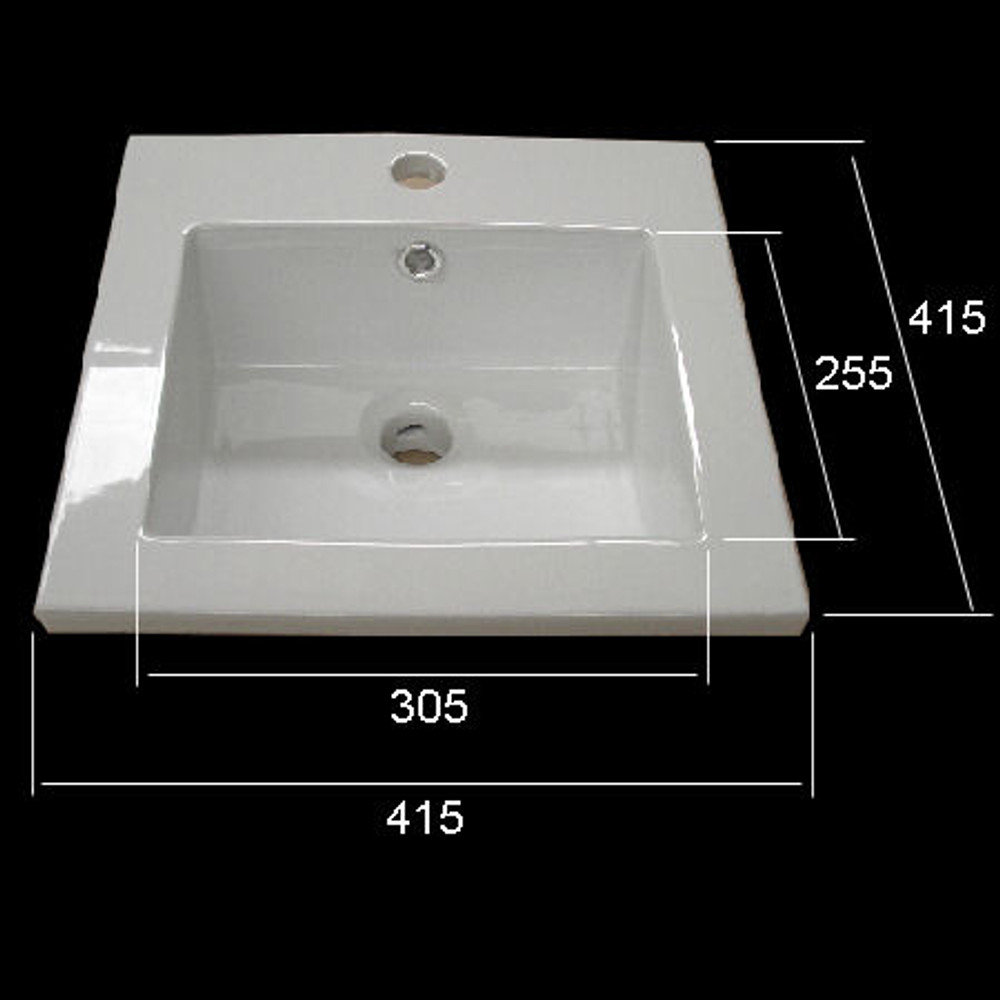 Square Drop In Basin with Tap Hole D9048