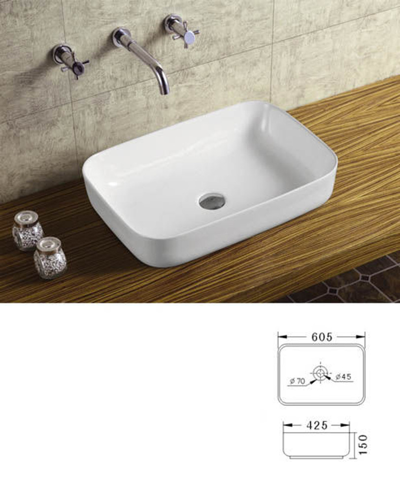 4mm Ultra Slim Ceramic Basin 1093