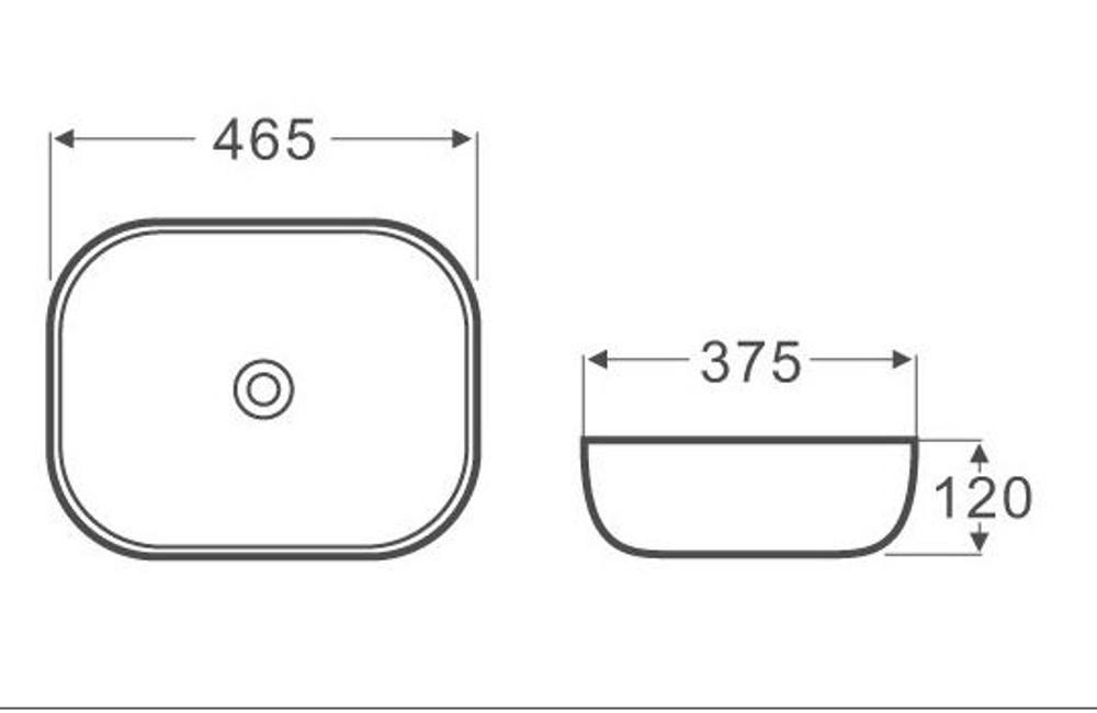 4mm Ultra Slim Ceramic Basin 2185