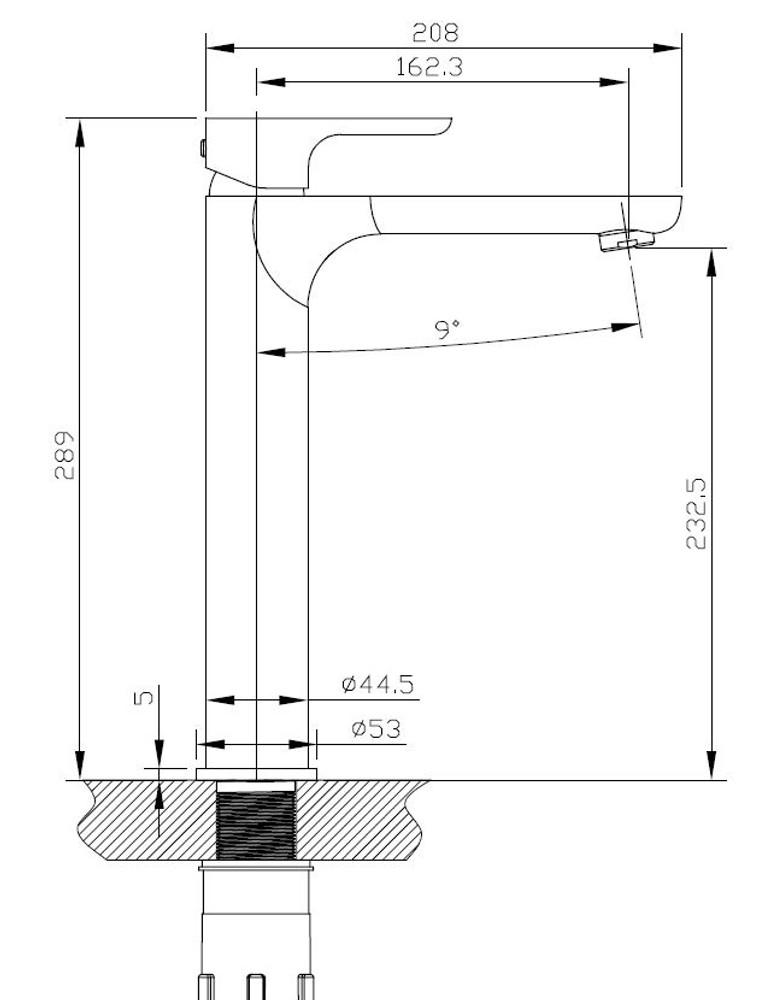 Normandy ETHAN Basin Tower Mixer Tap - Chrome