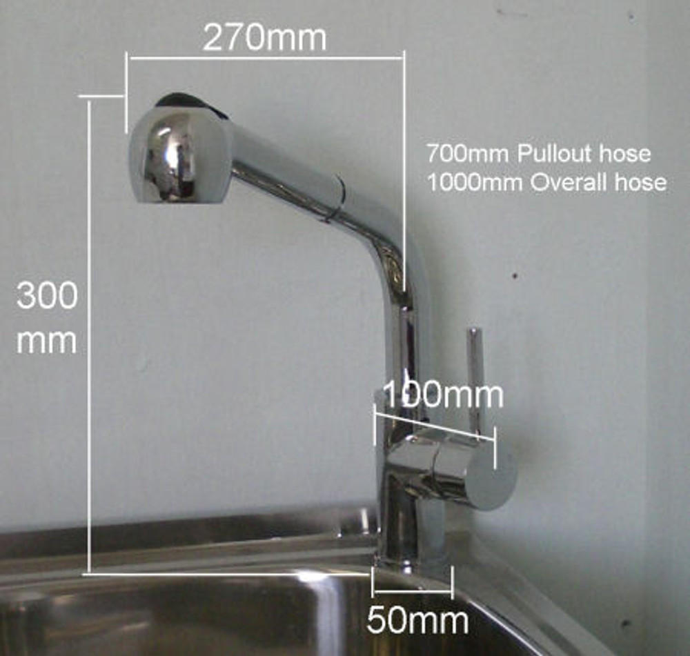 Lollypop Alps Pull Out Kitchen & Laundry Sink Mixer Tap