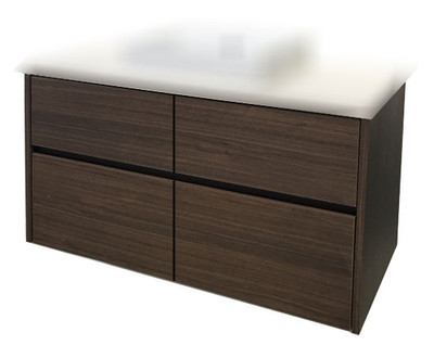 Chiron SIX Vanity with Stone Bench & Benchtop Basin 1500mm Wall Mounted HA