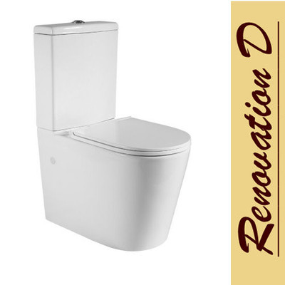 Normandy Tully Wall Faced Toilet Suite - Geberit Valve & Hygiene Coating