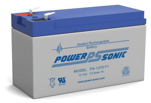 Power-Sonic PS-1270 F1 Battery - 12V 7Ah SLA